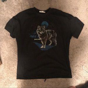 DIOR Palm furious wolf black  t-shirt